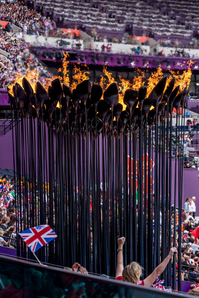 Olympic Flame and British Fans London 2012 Olympics 0249