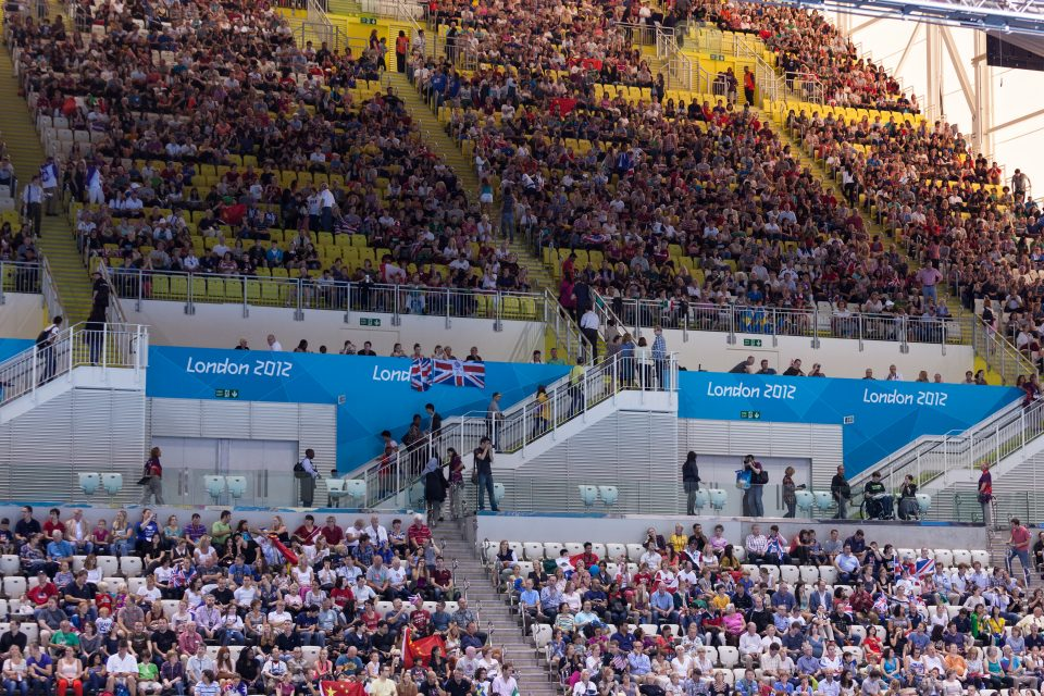 Women's 3M Diving Final Fans London 2012 Olympics 0357