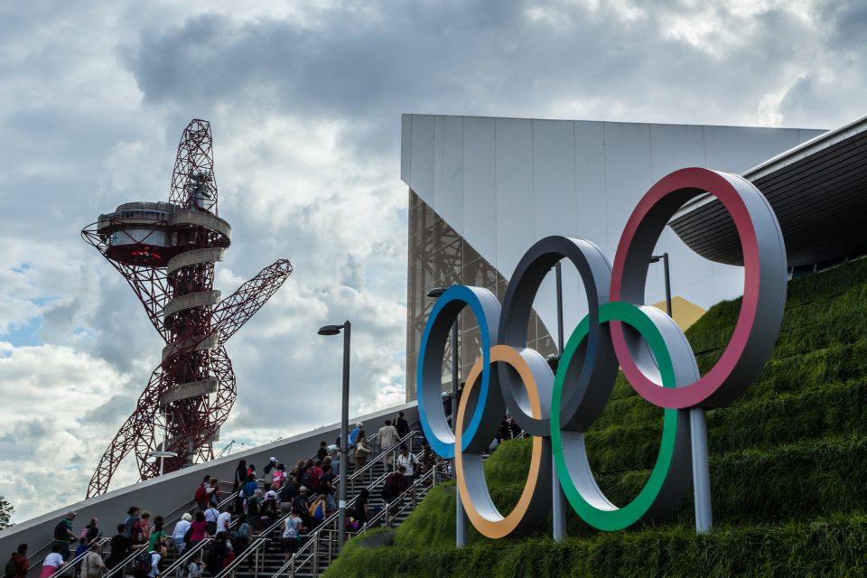 Outside Aquatics Center London 2012 Olympics 0355