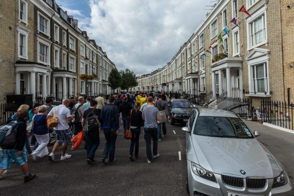 Walking to Earls Court Venue London 2012 Olympics 0341