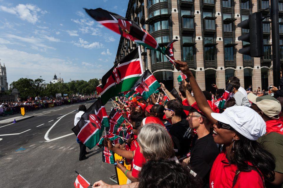 Kenyan Marathon Fans London 2012 Olympics 0386