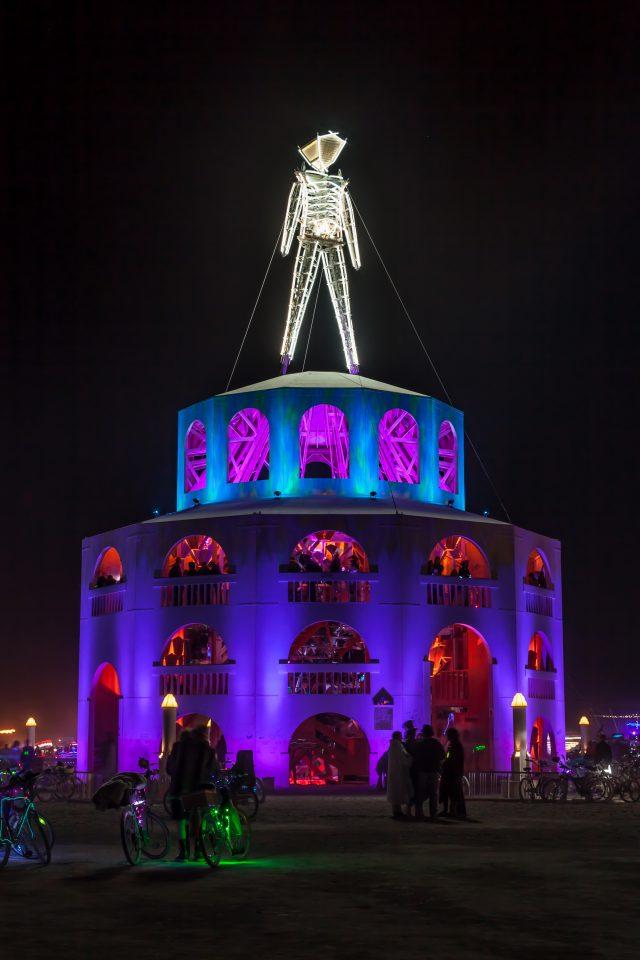 The Man at Night Burning Man 2012 107