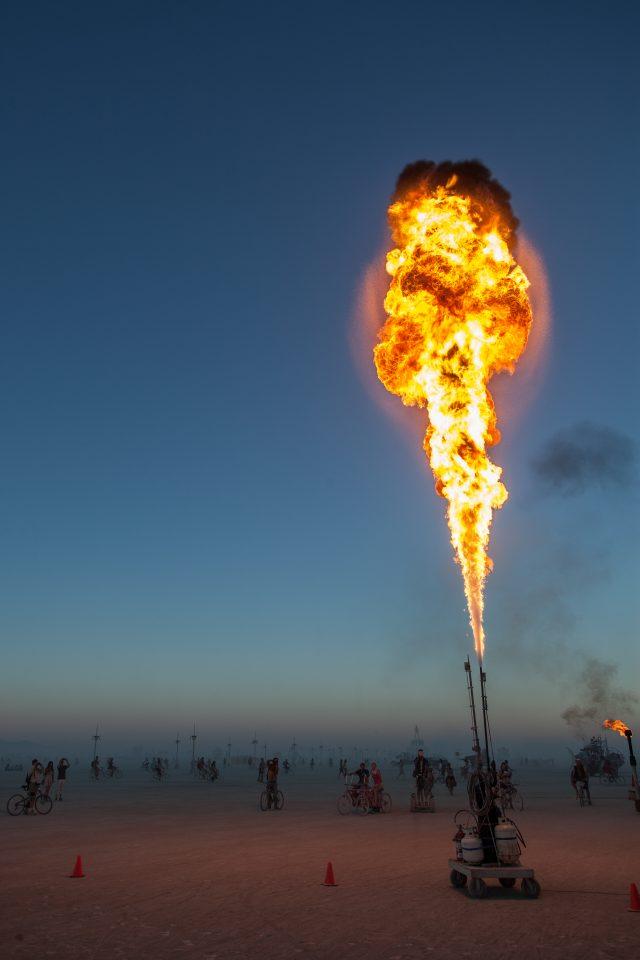Giant Smoke Ring Maker Burning Man 2012 105