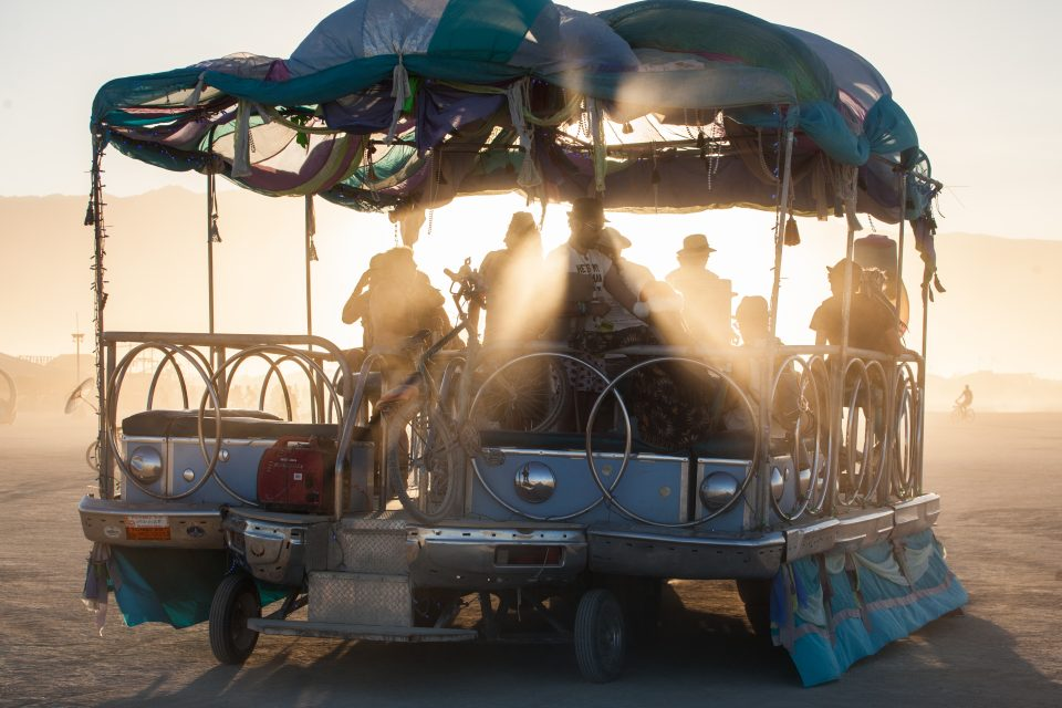 Art Car Sunset Burning Man 2012 101