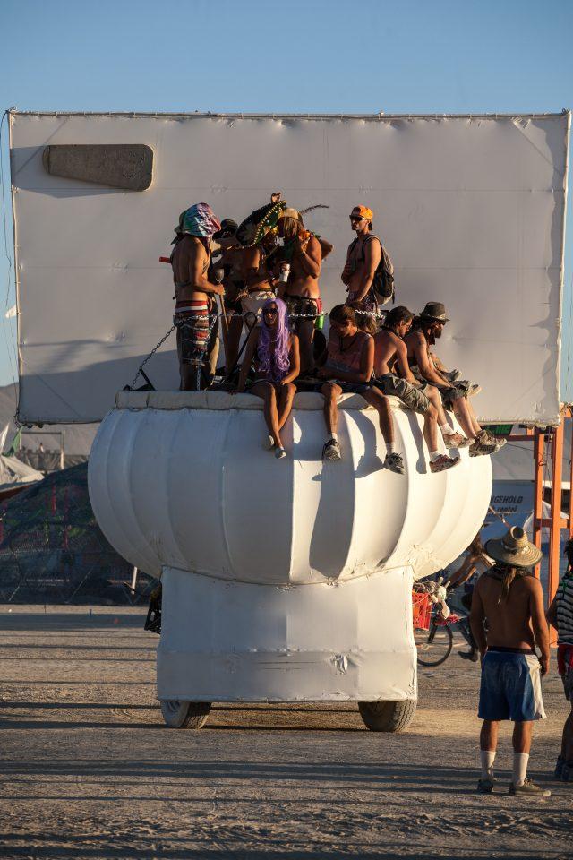 Giant Toilet Art Car Burning Man 2012 098