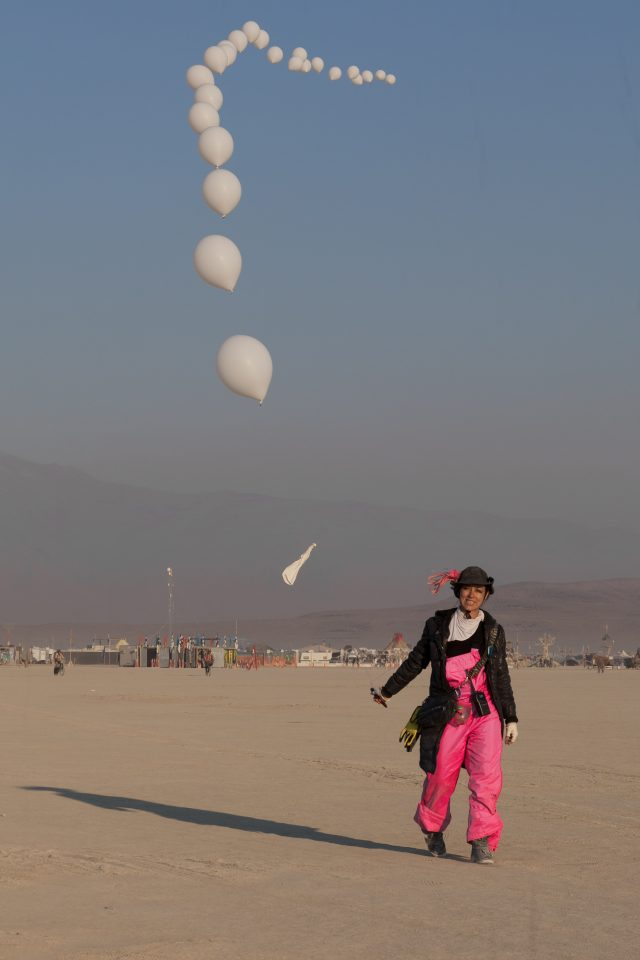 Woman and her Balloons Burning Man 2012 066