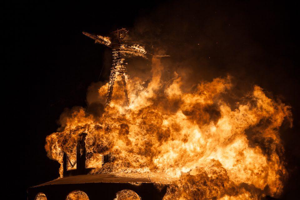 The Man Burns Burning Man 2012 213