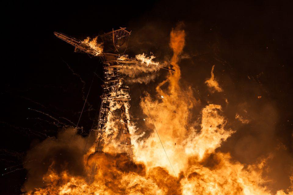 The Man Burns Burning Man 2012 212
