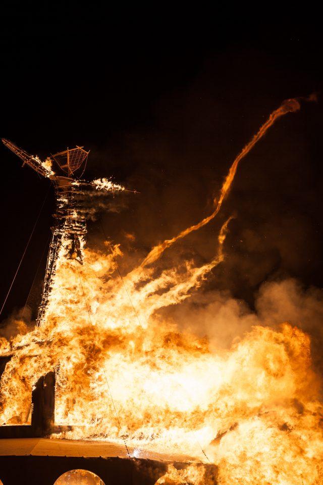 The Man Burns Burning Man 2012 211
