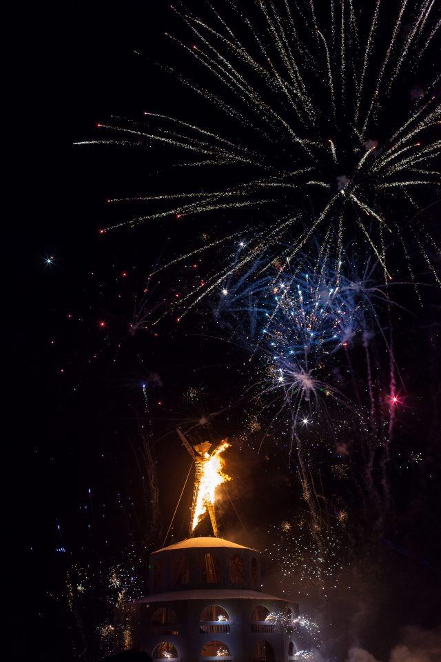 Fireworks Burning Man 2012 210