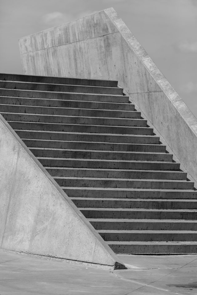 Black and White Staircase Copenhagen Denmark 084