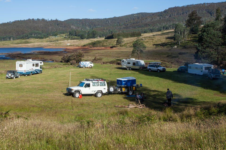 Typical Camping Scene in Australia
