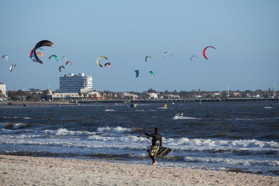 Kitsurfing in Melbourne