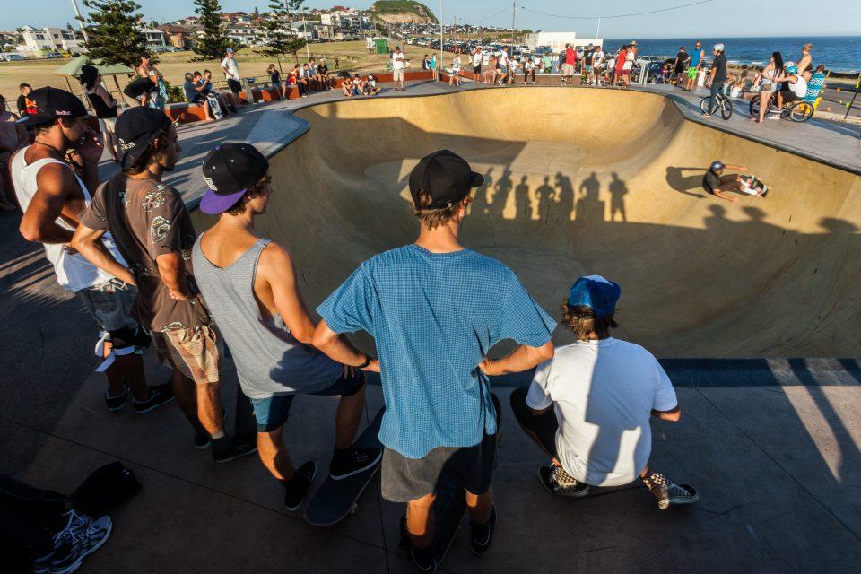 Crowd Watching Skater at Merewether Australia