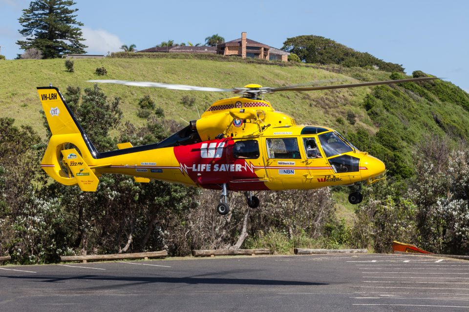 Helicopter Rescue Of Surfer Lennox Head Australia Feb 13 2011