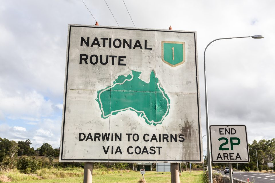 Darwin To Cairns via Coast National Route 1 Australia