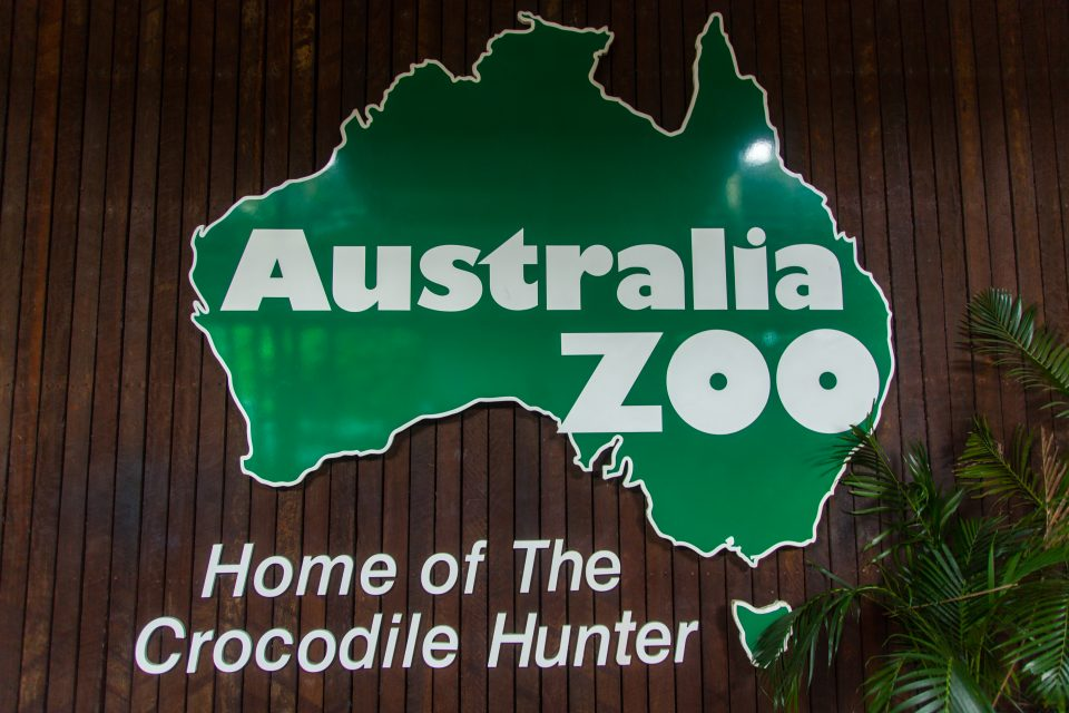 Australia Zoo Home of The Crocodile Hunter Sign