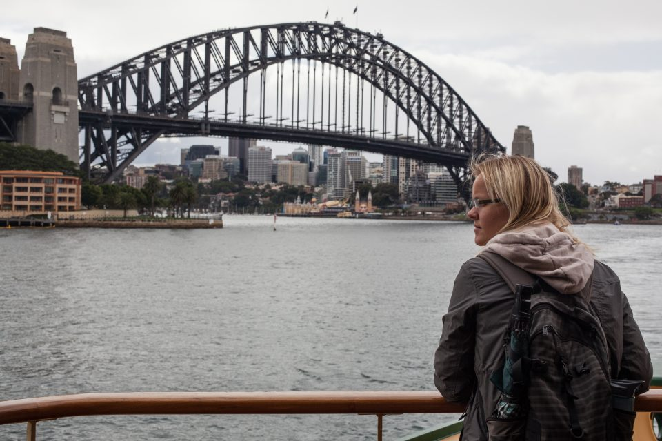 Dorothy and Sydney Harbour Bridge