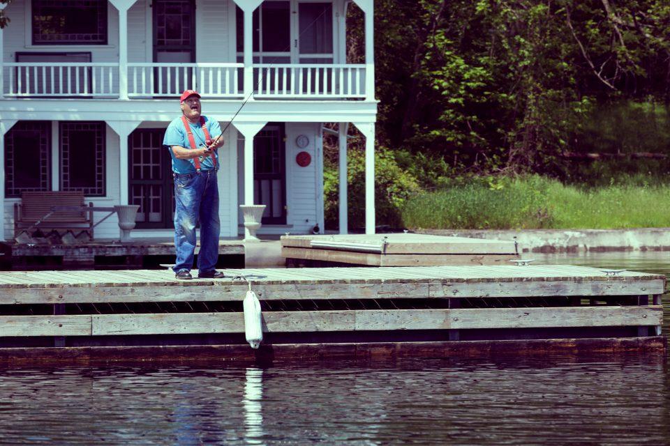 Happy Man Fishing 1000 Islands