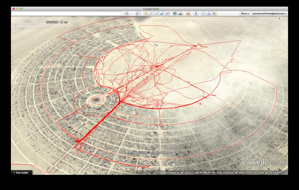 My GPS Track from Burning Man 2012