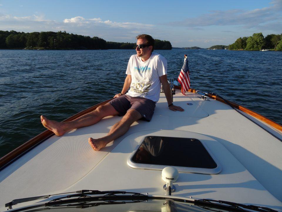Me boating