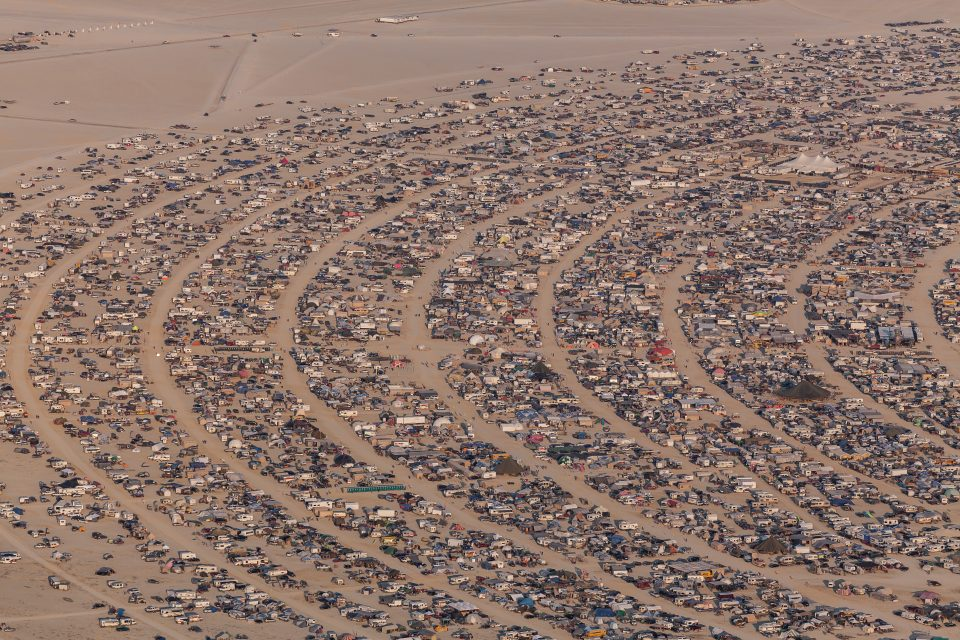 Aerial Photo Burning Man 2013
