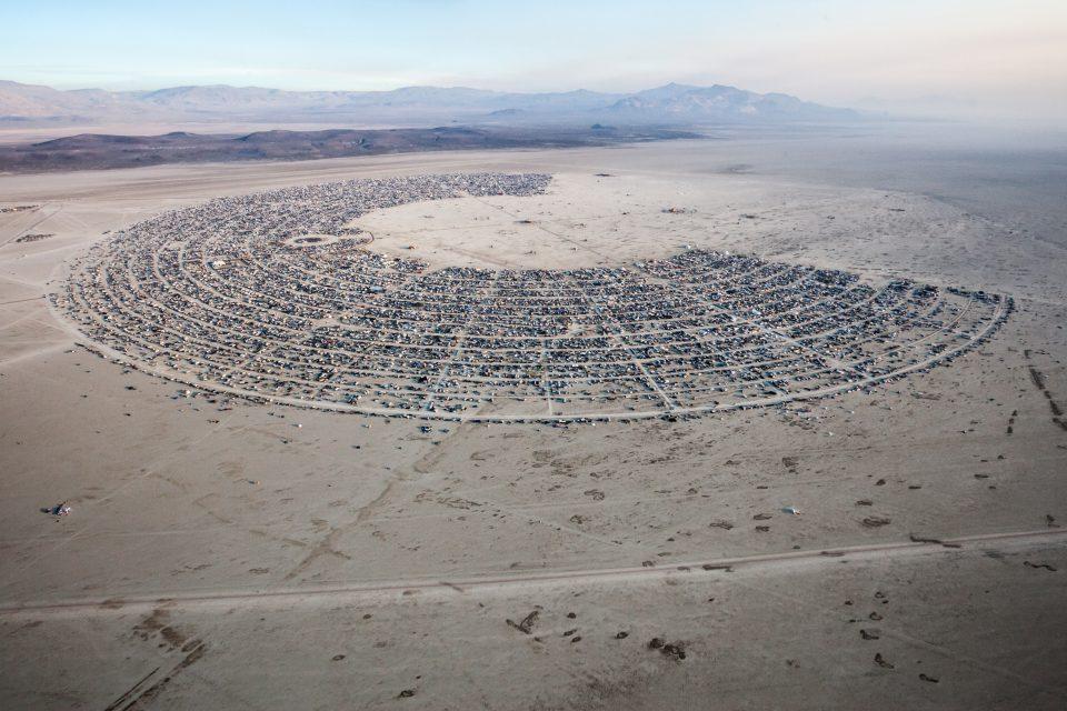 Aerial Photo Of Black Rock City Burning Man 2013