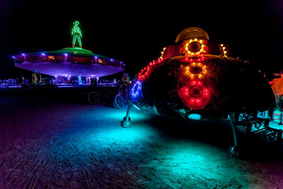 Alien Landing At The Man Burning Man 2013