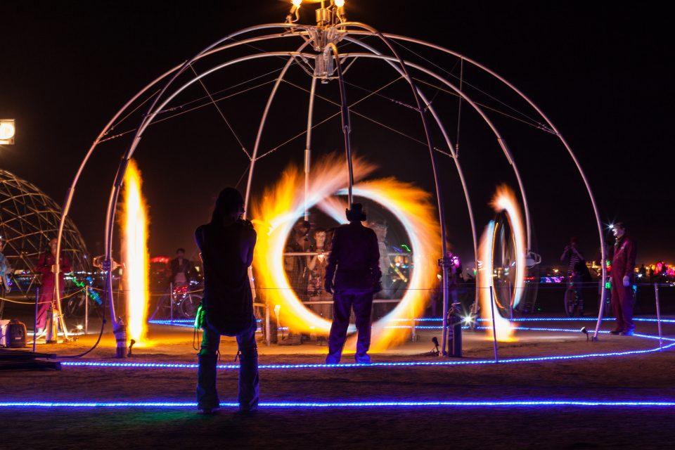 Char Wash At Night Burning Man 2013
