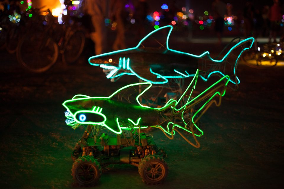 Remote Controlled Sharks Burning Man 2013