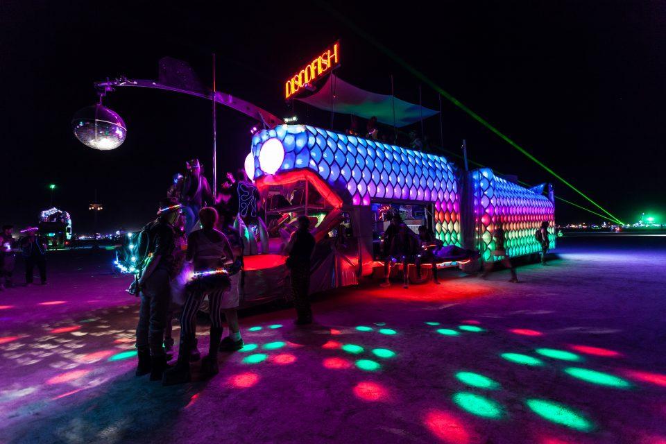 Art Car Discofish Burning Man 2013