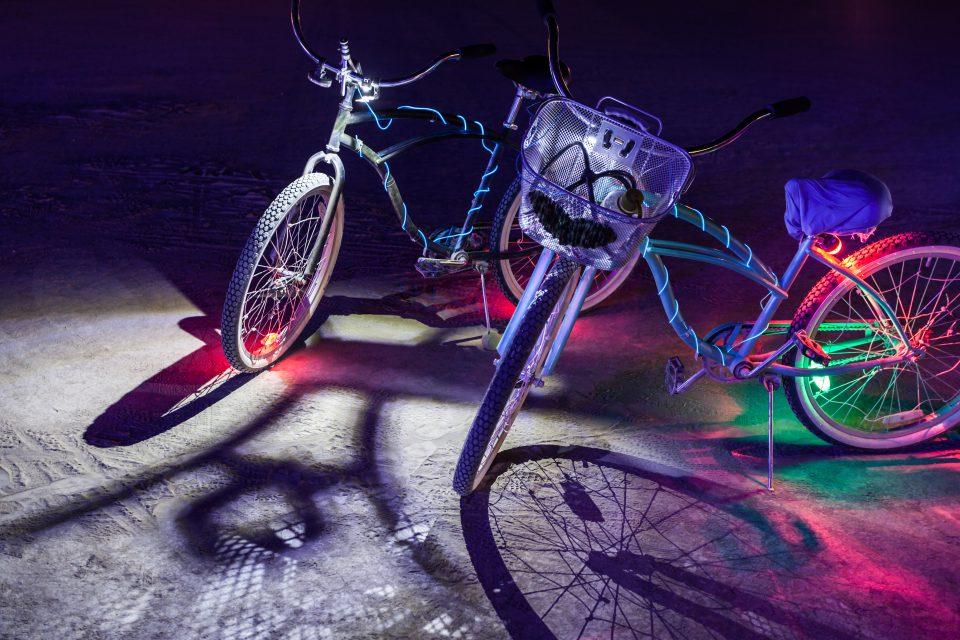 Our Bikes Burning Man 2013