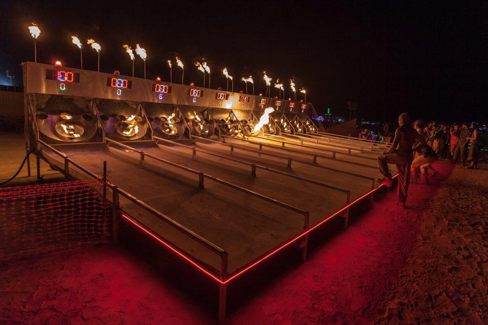 Skeeball Or Riskee At The Charcade Ball Burning Man 2013