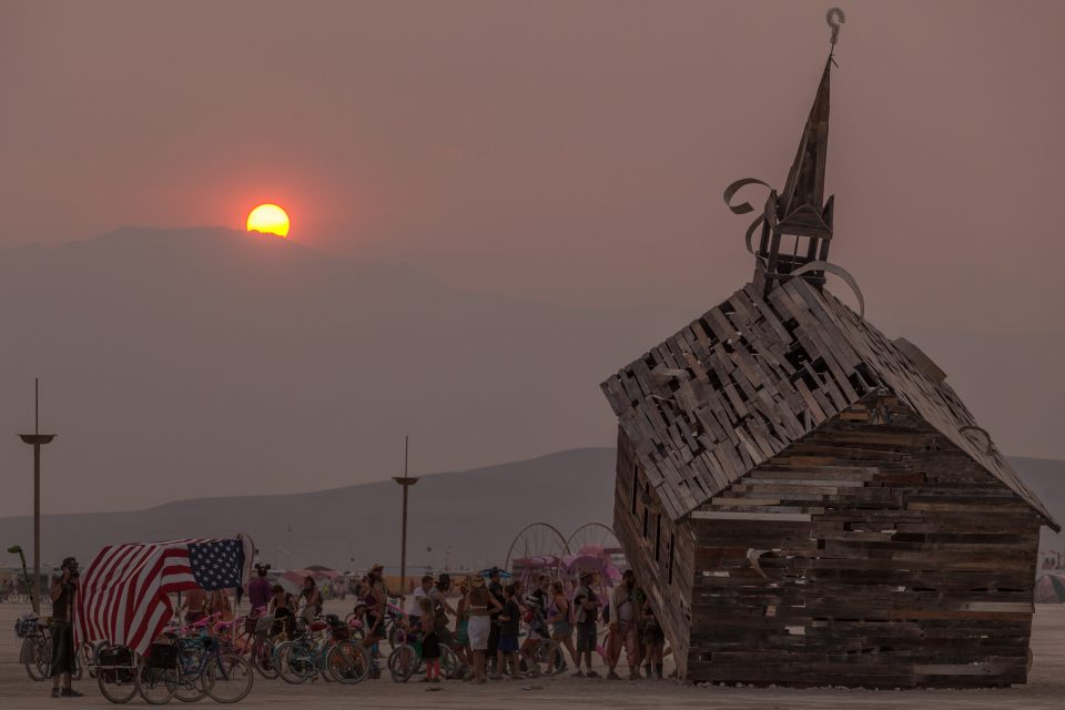 Church Trap At Sunset Burning Man 2013