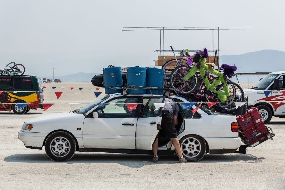 Heavily Loaded Vehicle Burning Man 2013