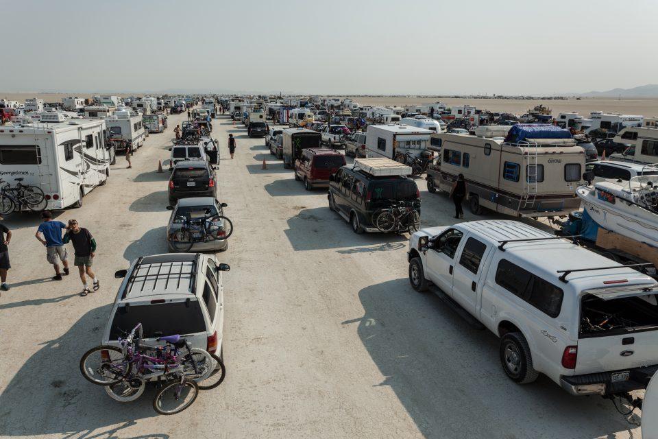 Line Monday Morning Burning Man 2013