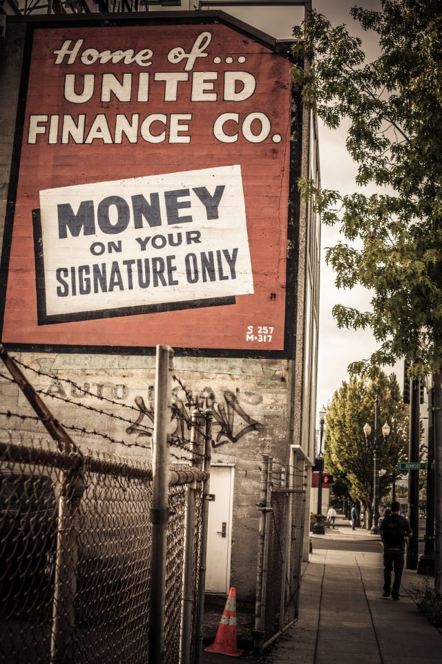 Home Of United Finance Co. Money On Your Signature Only