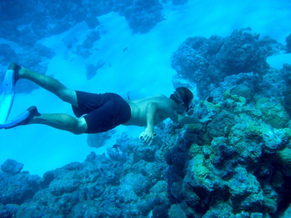 Duncan Rawlinson (me) Snorkelling Underwater