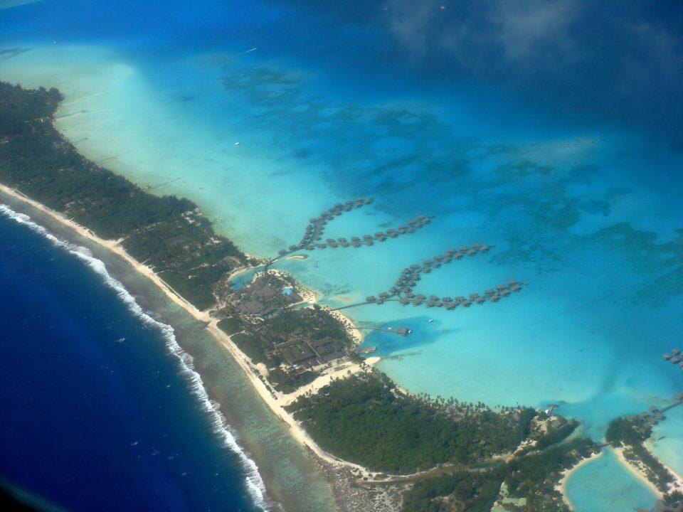 Aerial View of InterContinental Resort Bora Bora