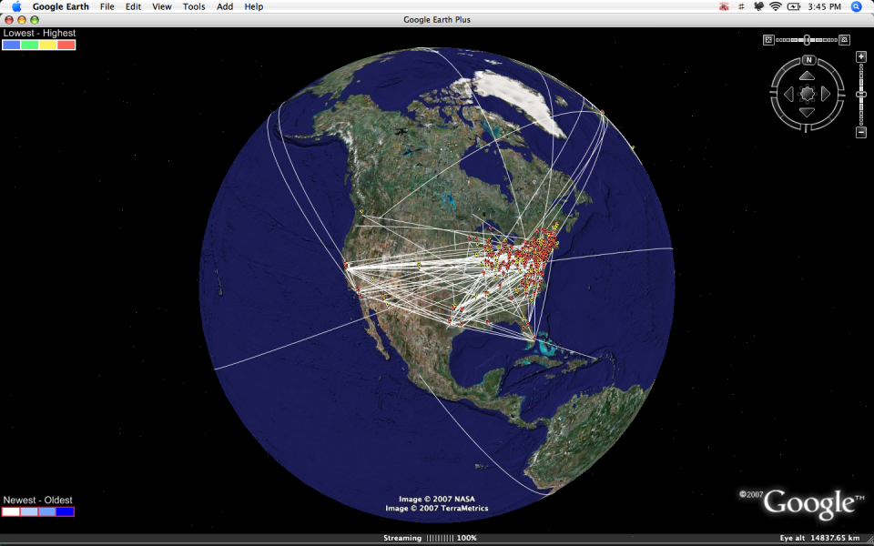 aim on google earth