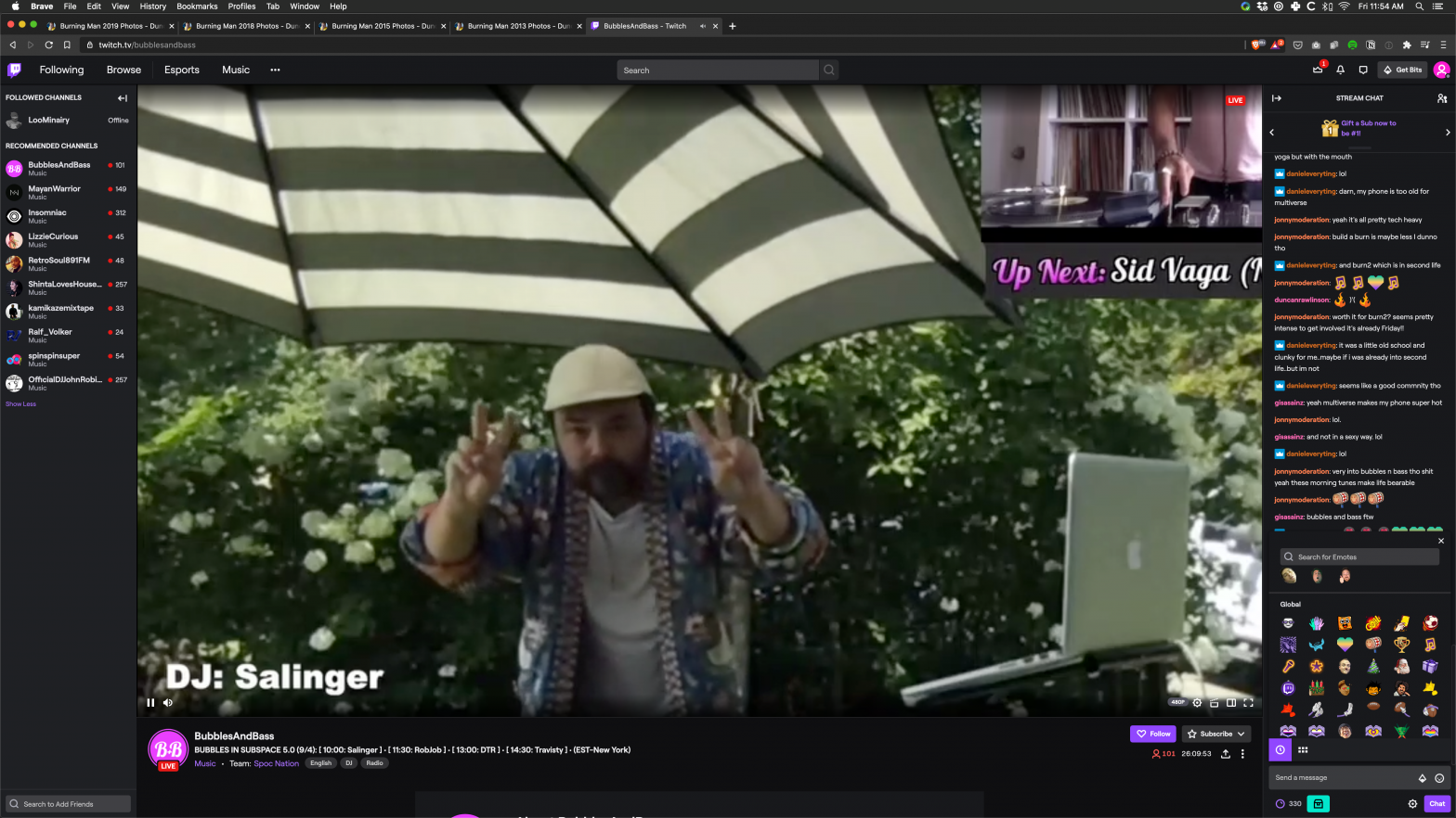 Salinger Bubbles and Bass Livestream